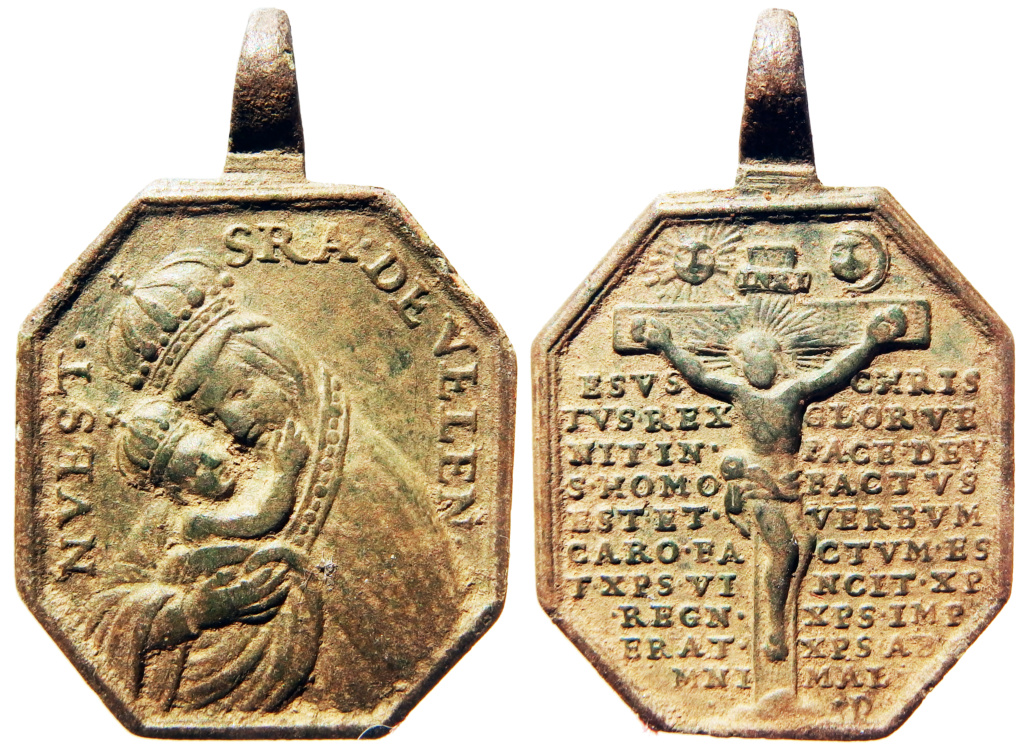 Virgen de Belén / Crucificado con oración protectora - s. XVIII Pa160010