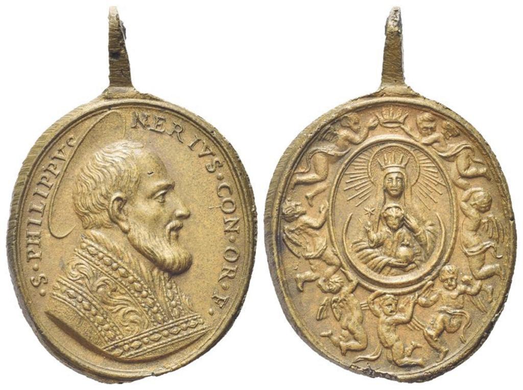 San Felipe Neri / Coronación Madonna della Vallicella - s. XVIII Roma-611