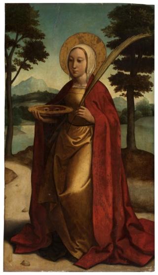 Santa Lucía / Santa Catalina de Alejandría - s. XVII (R.M. Pe Lucía 2) Santa_11