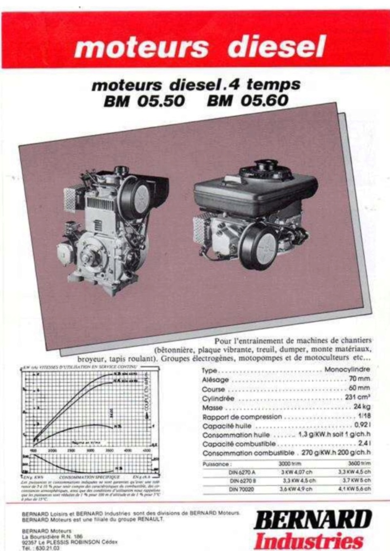 Bernard - moteur Bernard 05 50 diesel Img_0225