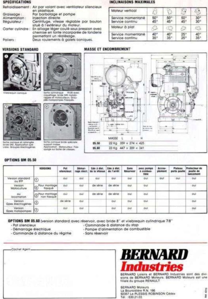 Bernard - moteur Bernard 05 50 diesel Img_0226