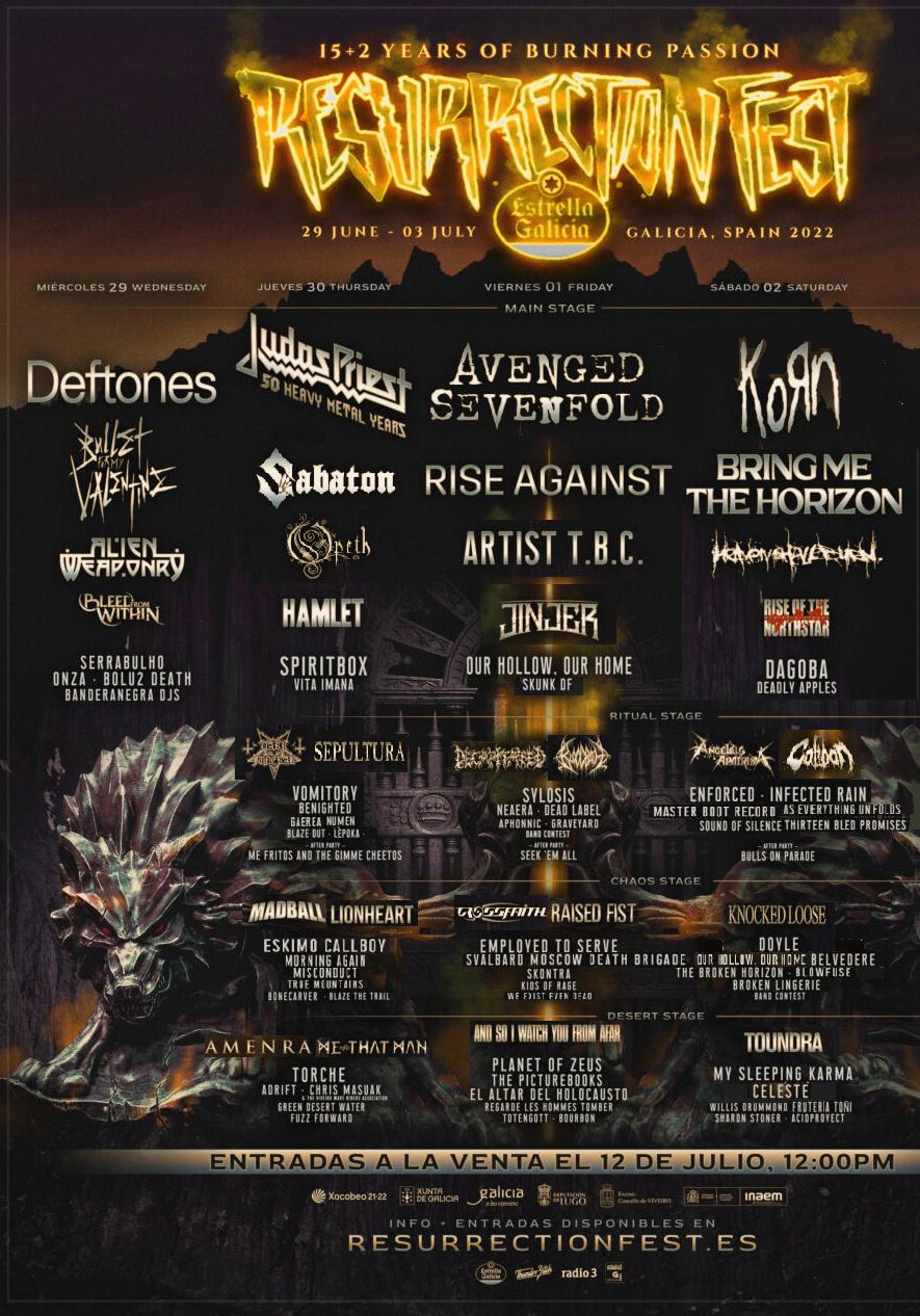 Resurrection Fest Estrella Galicia 2022. (29 - 3 Julio) Avenged Sevenfold, KoRn, Deftones, Sabaton y Bourbon! - Página 9 4_dias10