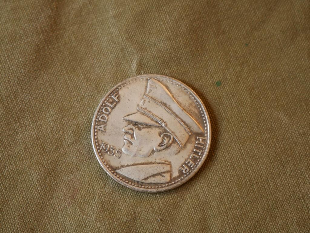 Une medaille Vichy et une médaille en argent Hitler P1040310