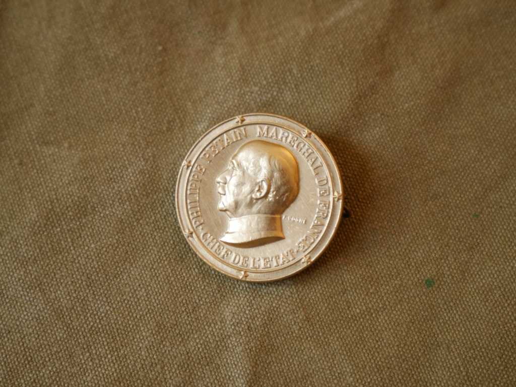 Une medaille Vichy et une médaille en argent Hitler P1040312