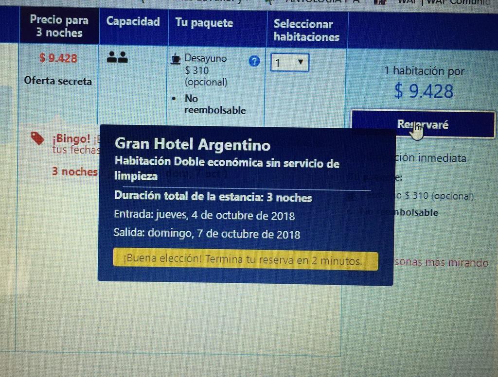 Encuentro en Buenos Aires- 5,6 y7 de octubre/2018 Hotel-10