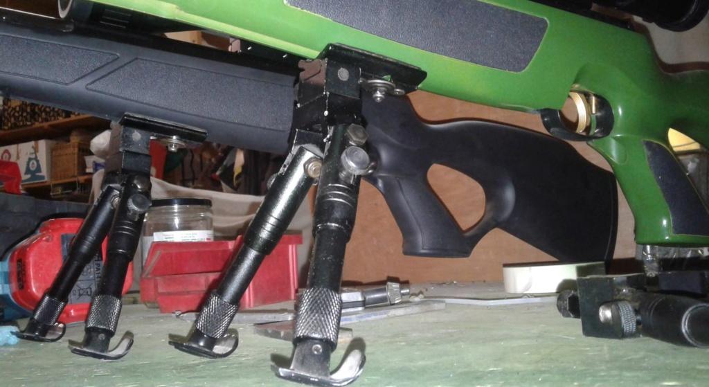 montage de bipied sur carabine a armement par levier (hw97k) 313