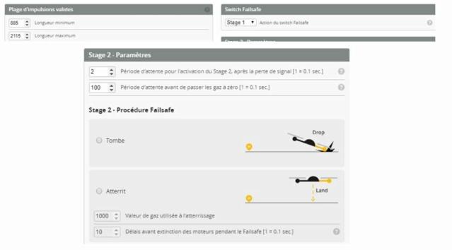 Comment configurer sa carte FC pour que le drone revienne en RTH après un failsafe  Captur38