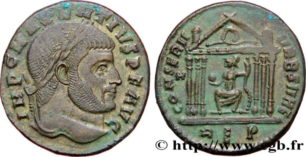 Identification romaine avec un temple  (MAXENCE RIC 210 Rome ou Aquilée  ) Maxenc10