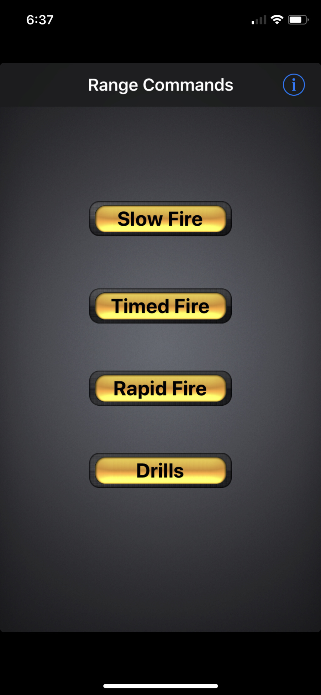 Bullseye APP on iPhone not working?  What else is available for timing drills? Eb4e2610