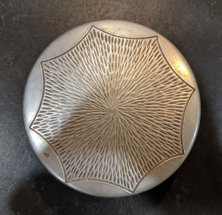 Mid Century Modern Pewter Container - Marked - Country of Origin/Maker? Img_2022