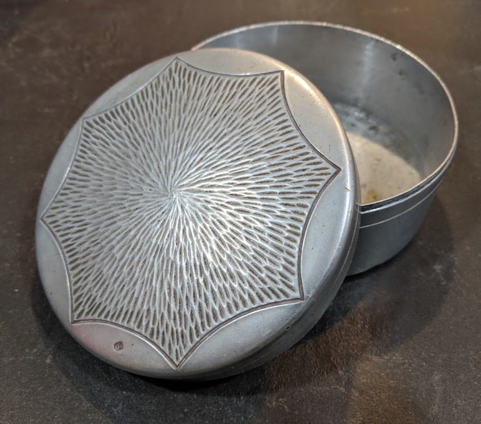 Mid Century Modern Pewter Container - Marked - Country of Origin/Maker? Img_2023