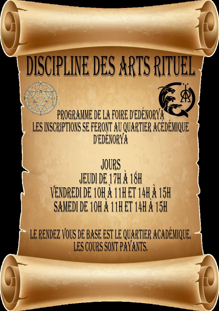 début de l'académie des arts rituel Affich11