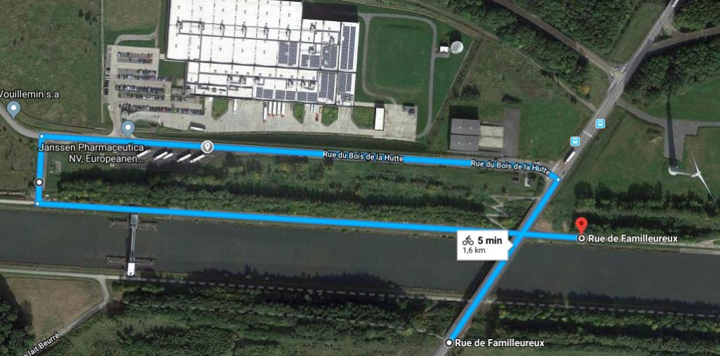 RAVeL 1 Centre (Part 2) La louvière - Roux 07 Itinéraire N°4 - W4 - Canaux, fleuves et rivières - La Louvière - Roux (RAVeL 1 Centre La louvière - Roux) Rue_bo10