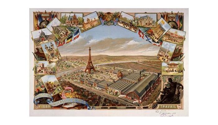 Exposition Universelle. Tour Eiffel 1889. Sans1043