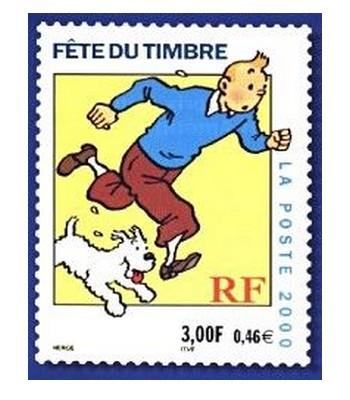 les TIMBRES SUR LE MOTIF DE TINTIN Sans1953