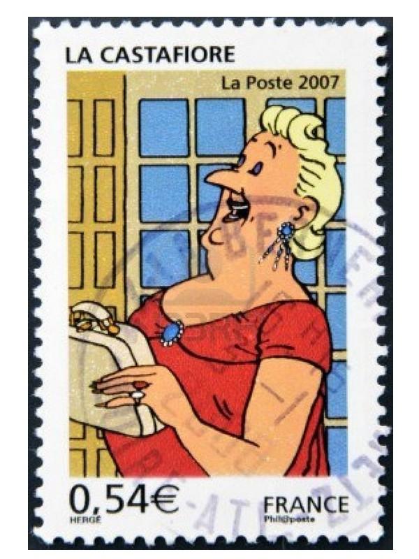 les TIMBRES SUR LE MOTIF DE TINTIN Sans1954