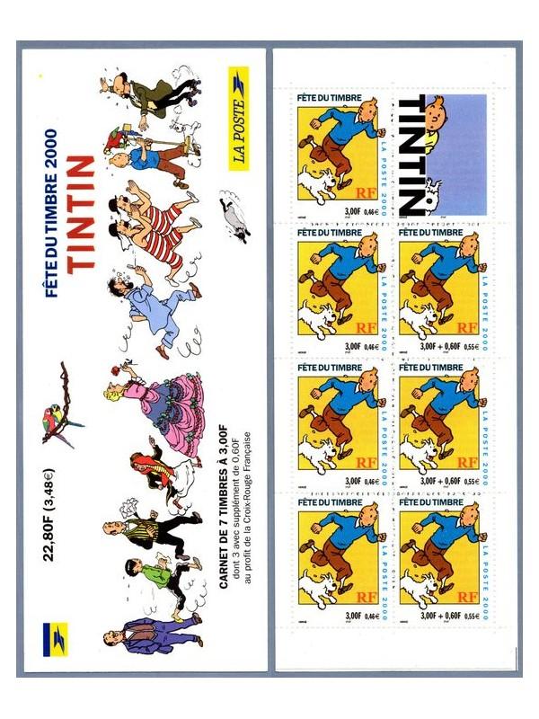 les TIMBRES SUR LE MOTIF DE TINTIN Sans1968
