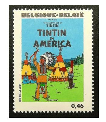 les TIMBRES SUR LE MOTIF DE TINTIN Sans1978