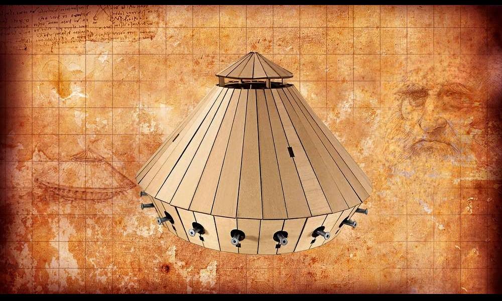 Léonard de Vinci et ses remarquables inventions Sans2272