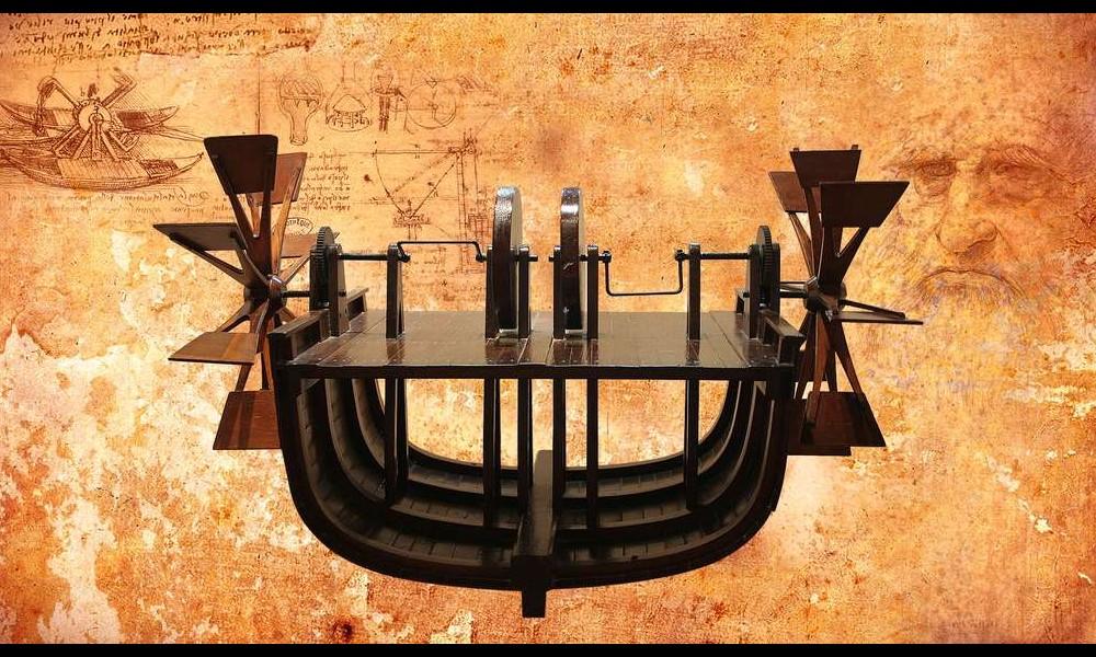 Léonard de Vinci et ses remarquables inventions Sans2282