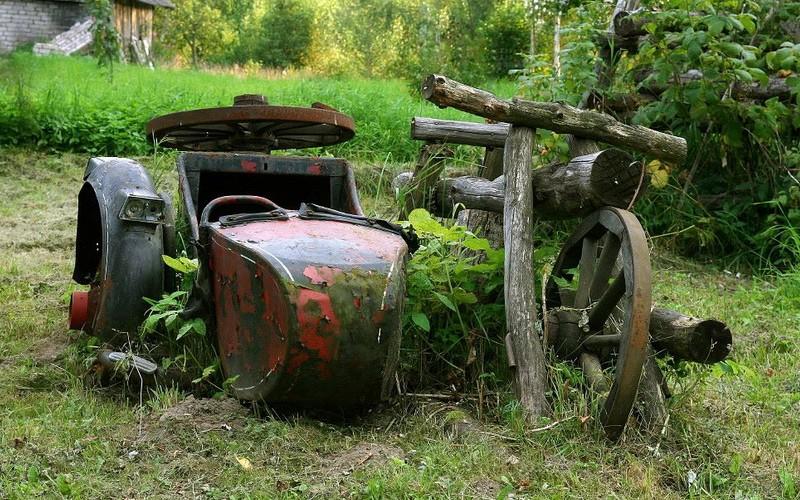 SIDE CAR ancien  Sans2394