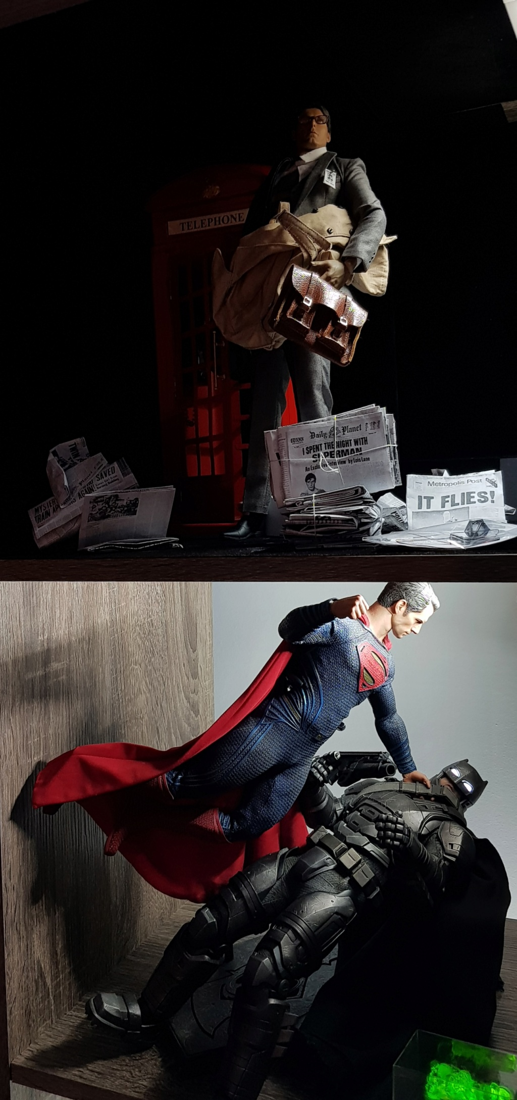 Clark Kent (1978) Superman mini-Diorama using the new TALL M36 Phicen [WIP]  20190113
