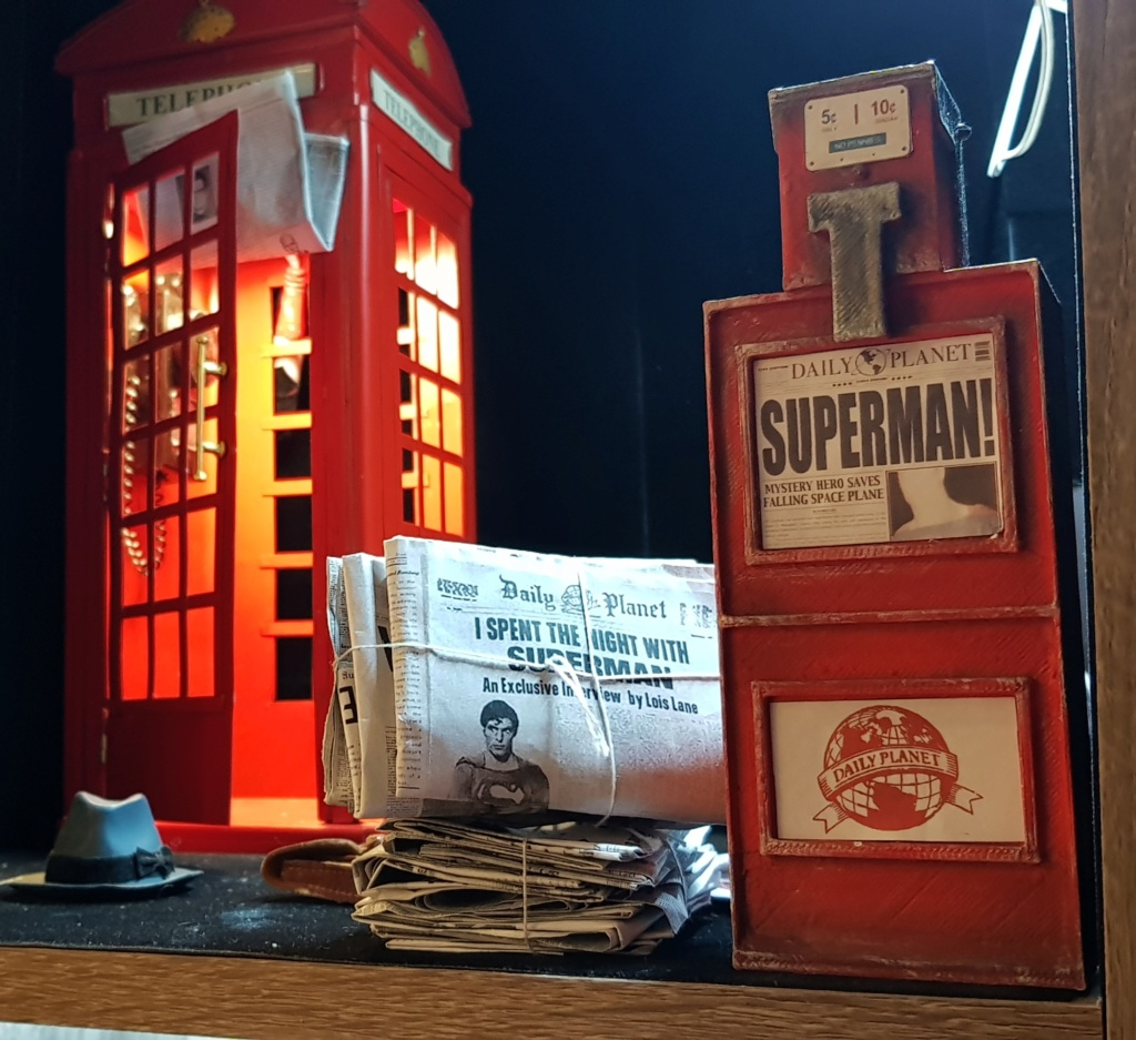 Clark Kent (1978) Superman mini-Diorama using the new TALL M36 Phicen [WIP]  20190115