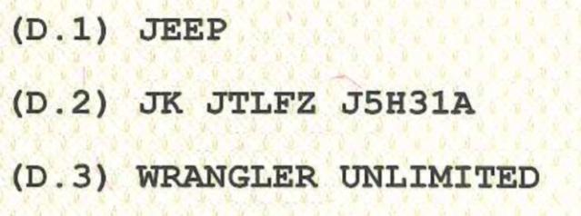 JL ma il libretto riporta JK Screen11