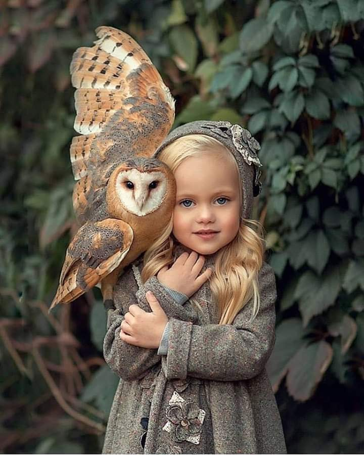 Lovely photo of girl with owl from FB. 60172010