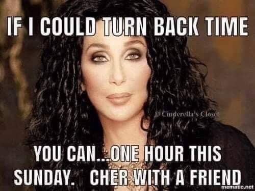 Clocks go back this weekend. 74834410