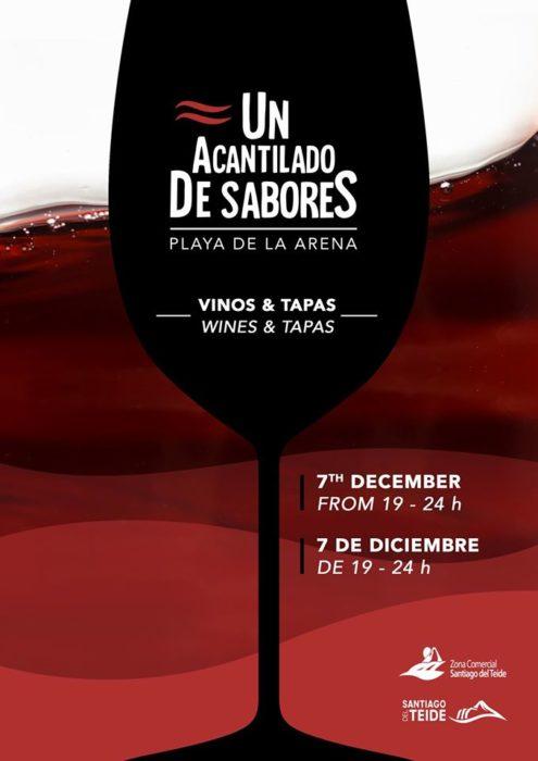 Pre-Christmas wine and tapas with Santiago del Teide's Acantilado de Sabores in Playa la Arena Saturday 7 December Acanti10