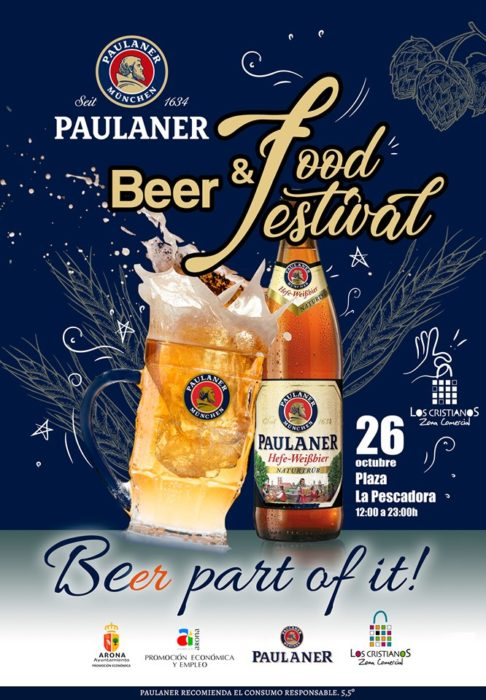 Arona intrudces Paulaner 'Oktoberfest' beer and food festival this Saturday in Los Cristianos harbour's Plaza de la Pescadora Arona-10