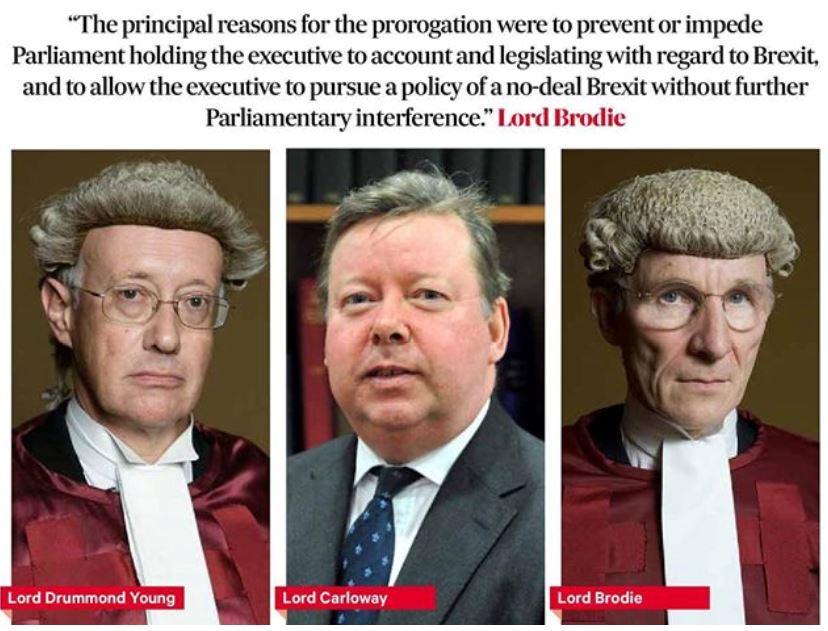 Scottish Court deems prorogation of Parliament illegal. Captu645