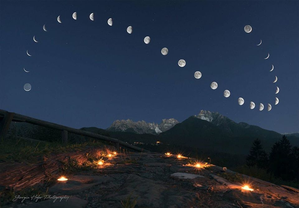 Photos of the moon taken from same place for 28 days. Ccc10