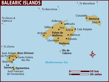 Mallorca and Ibiza plan new onslaught against rowdy tourists Map_of10