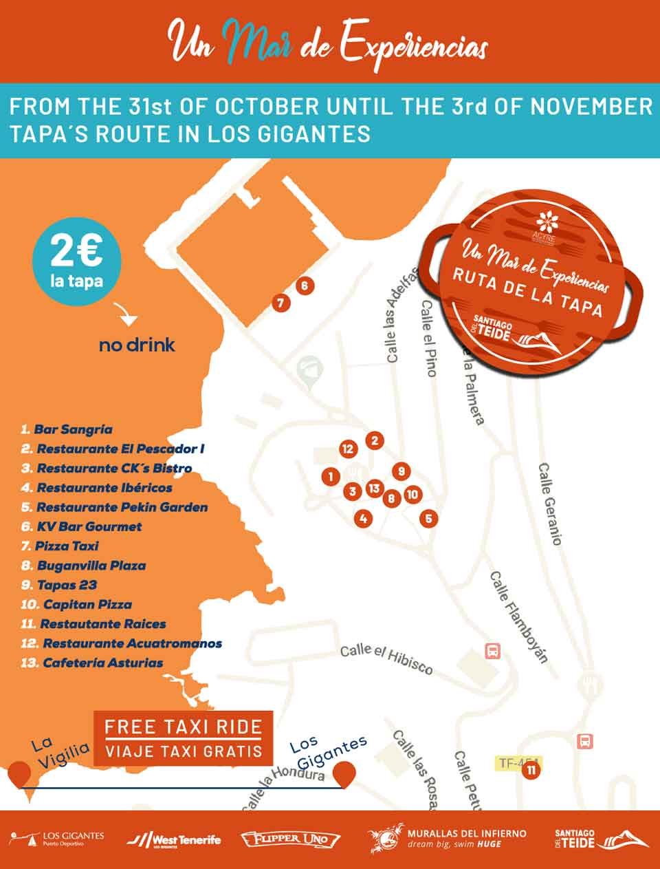 Ruta de la Tapa in Los Gigantes from today to Sunday Ruta_t10