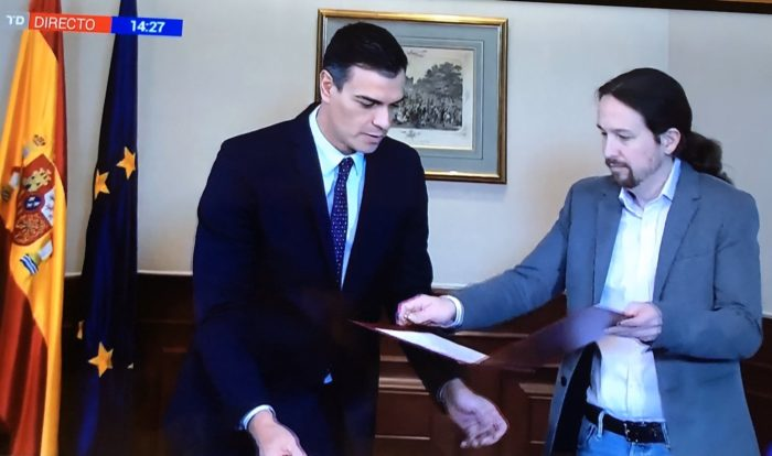 Spain's deadlock ends as PSOE-Podemos agreement gives the country its longed-for stable Government at last Sanche10