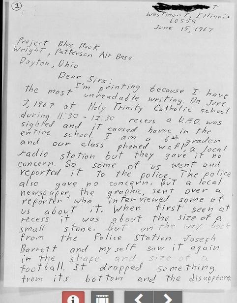Un cas Blue Book de 1967 B131310