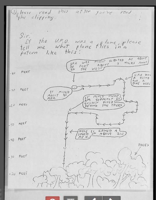 Un cas Blue Book de 1967 B131510