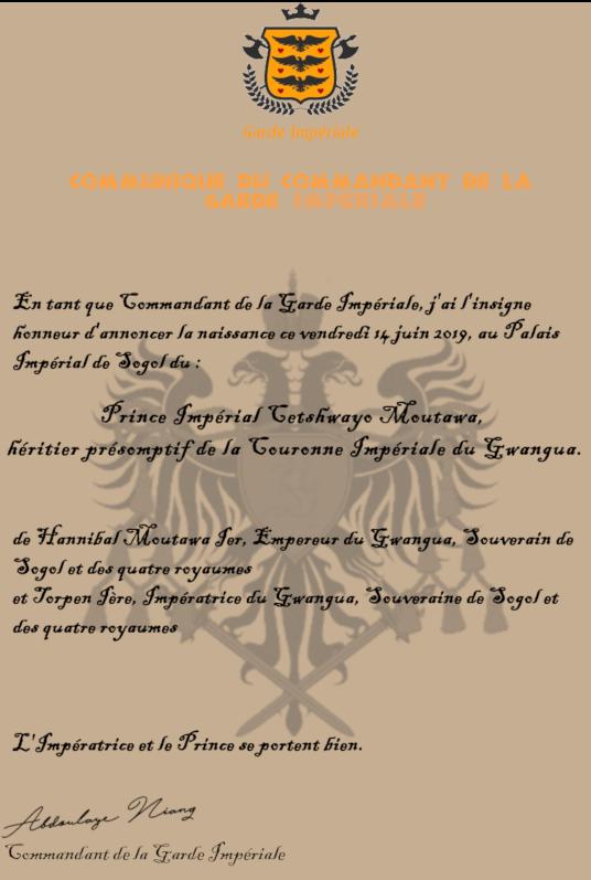 Déclaration de l'Empereur du Gwangua Commun10