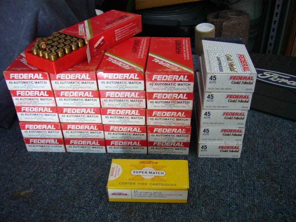 SOLD: Wadcutter .45 Pistol Ammo_611