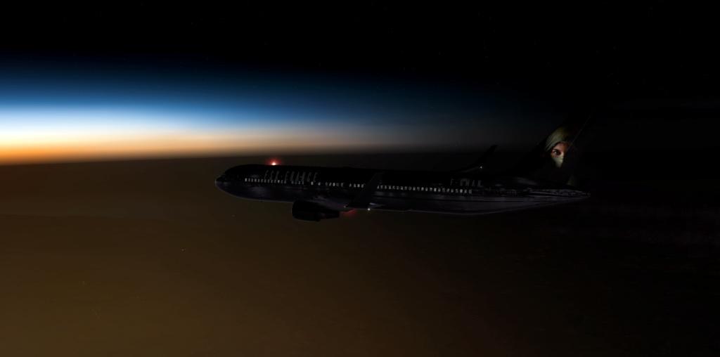 Vol nocturne en direction de Brest 767-3010