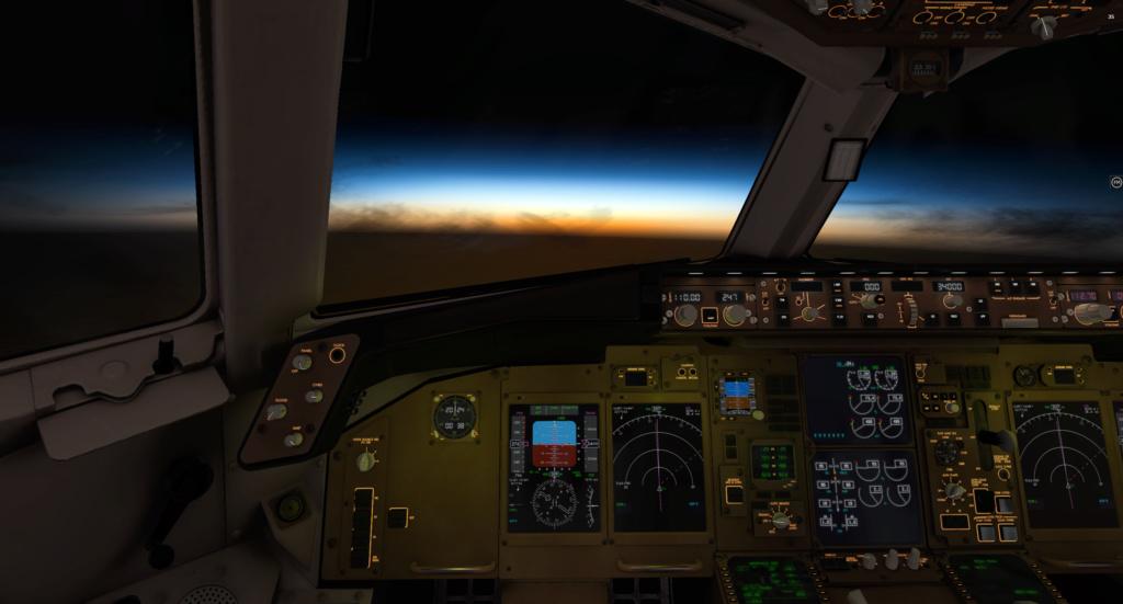 Vol nocturne en direction de Brest 767-3011
