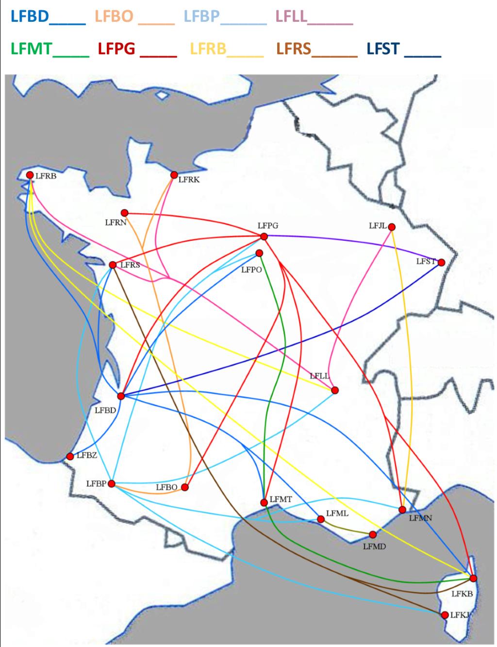 Cartes des HUB et lignes de la compagnie Image213