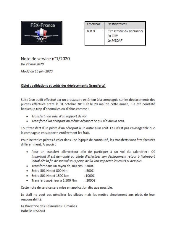 Note de service sur les coûts des déplacements Note_d10