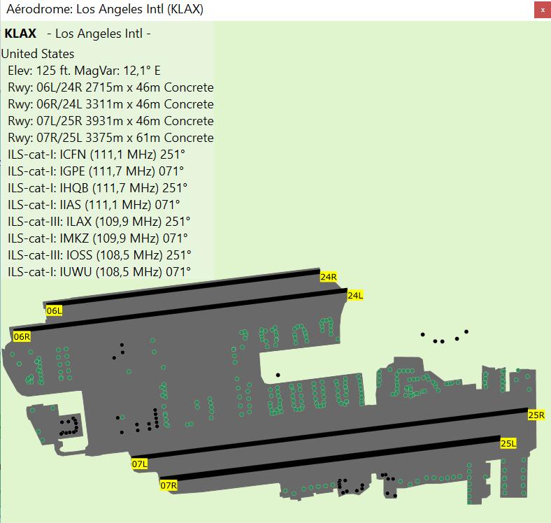 American tour parcours 1 KLAX-KPRB étape 2 Carte210