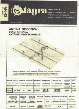 A VENDRE ANTENNE DIRECTIVE 3 ELEMENTS TAGRA AH-03 Scan0310