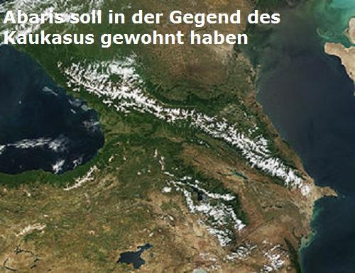 Abaris (Mythologie): Soll in der Gegend des Kaukasus gewohnt haben Abaris10