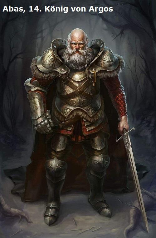 Der 14. König der Stadt Argos wird mit dem Namen Abas überliefert (Mythologie) Abas10