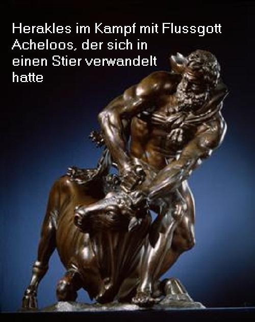 Flussgott Acheloos (Mythologie): Der älteste und vornehmste Flussgott, personifiziert den Fluss Acheloos Achelo10
